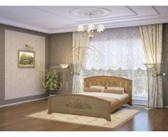 Деревянная двуспальная кровать из массива Нова