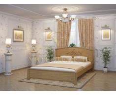 Деревянная двуспальная кровать из массива Нова тахта