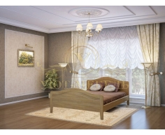 Деревянная двуспальная кровать из массива Новинка