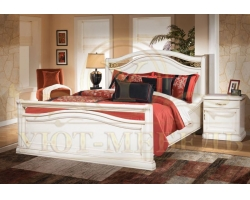 Кровать из массива сосны Портленд