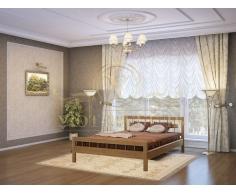 Деревянная двуспальная кровать из массива Сакура