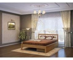 Деревянная двуспальная кровать из массива Сакура тахта
