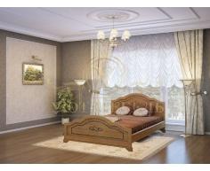 Деревянная двуспальная кровать из массива Сатори