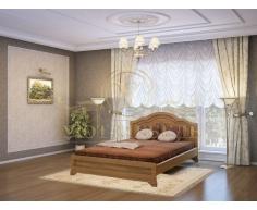 Деревянная двуспальная кровать из массива Сатори тахта