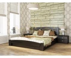 Деревянная двуспальная кровать из массива Селена