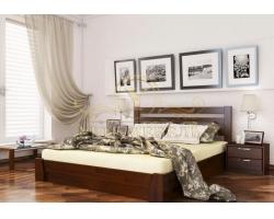 Кровать с подъемным механизмом из массива Селена прямая