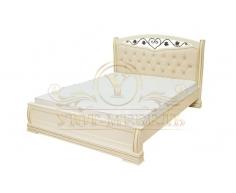 Кровать с подъемным механизмом из массива Сиена тахта с ковкой