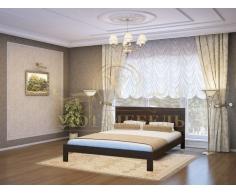 Деревянная двуспальная кровать из массива София тахта