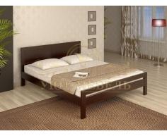 Деревянная двуспальная кровать из массива София