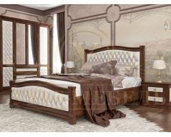 Кровать из массива сосны Соната 2 с мягкой вставкой