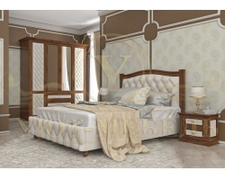 Купить деревянную кровать Соната 2 тахта с мягкой вставкой