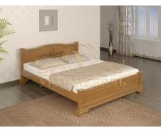 Деревянная двуспальная кровать из массива Соната тахта