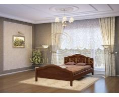 Деревянная двуспальная кровать из массива Сонька