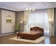 Деревянная двуспальная кровать из массива Сонька тахта