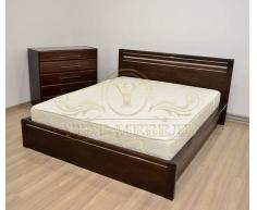 Деревянная двуспальная кровать из массива Стиль 1А