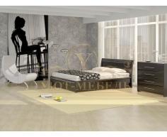 Деревянная двуспальная кровать из массива Стиль 2А