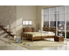 Деревянная двуспальная кровать из массива Стиль 3А