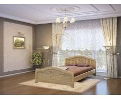 Деревянная двуспальная кровать из массива Таката