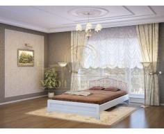 Деревянная двуспальная кровать из массива Таката тахта