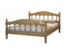 Деревянная односпальная кровать Точенка
