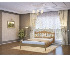 Деревянная двуспальная кровать из массива Точенка тахта