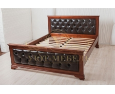 Деревянная двуспальная кровать из массива Тунис