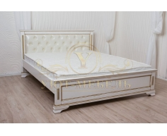 Деревянная двуспальная кровать из массива Тунис тахта