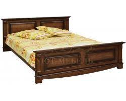 Деревянная двуспальная кровать из массива Венето