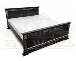 Деревянная двуспальная кровать из массива Верди 2