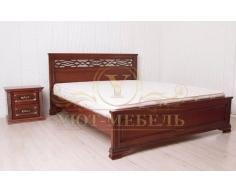 Деревянная двуспальная кровать из массива Верона