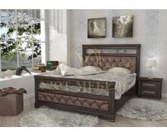 Деревянная двуспальная кровать из массива Виттория