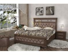 Деревянная двуспальная кровать из массива Виттория тахта