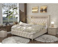 Деревянная двуспальная кровать из массива Виттория тахта 2