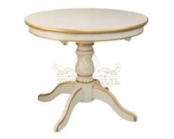 Обеденный стол из березы Муромец раздвижной