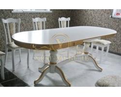 Обеденный стол из березы Илья раздвижной