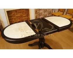 Обеденный стол из березы Илья кафельный раздвижной