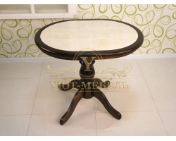 Обеденный стол из березы Муромец кафельный не раздвижной