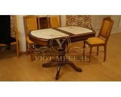 Обеденный стол из березы Олива кафельный