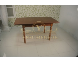 Обеденный стол из березы Трапеза раздвижной