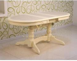 Обеденный стол из массива Трансформер кафельный