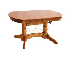 Обеденный стол из березы Трансформер радиус