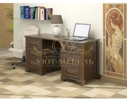 Письменный стол из бука Фараон 6 ящиков