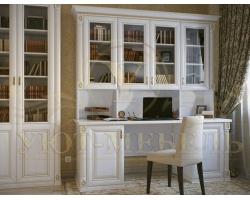 Письменный стол из бука Форкс 2 дверки и стенка