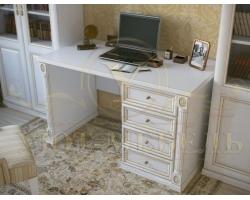 Письменный стол из бука Форкс 4 ящика