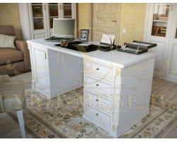 Письменный стол из бука Форкс 4 ящика и дверка