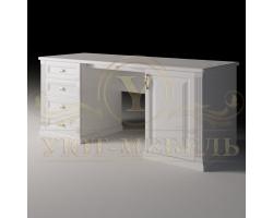 Письменный стол из бука Либерти 4 ящика и дверка