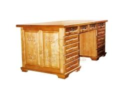 Письменный стол из сосны Сенатор резной
