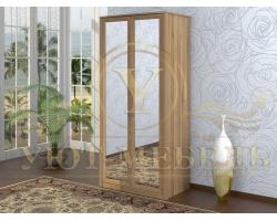 Шкаф из массива сосны 2 створчатый Селена