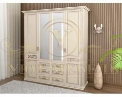 Шкаф из массива сосны 4 створчатый Верона