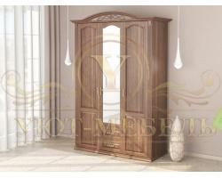 Шкаф из массива сосны 3 створчатый Венеция